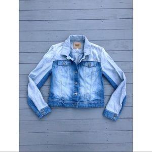 Paige Vermont ombré contrast denim jean jacket L